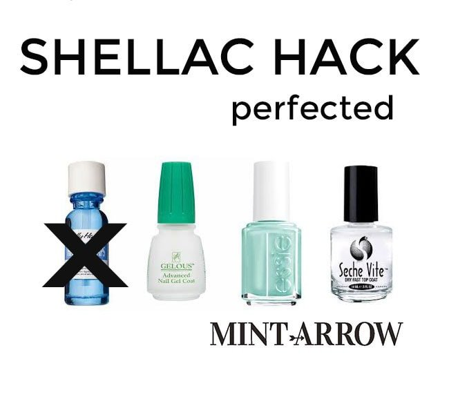 Shellac hack perfected mint arrow diy shellac hack make your polish last a week no curing light required solutioingenieria Images