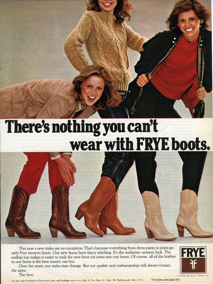 frye boot ad 1979