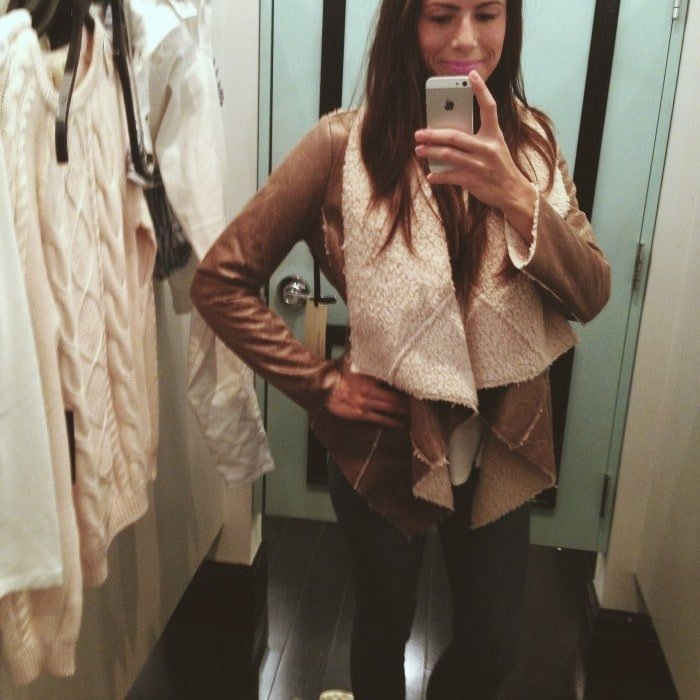 forever 21 luxe faux suede and faux shearling jacket