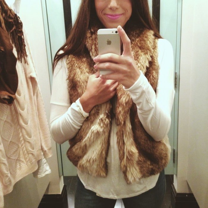 forever 21 luxe faux fur vest