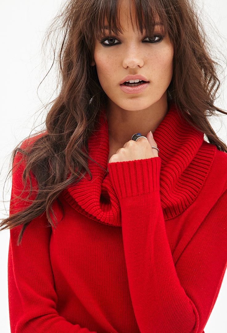 christmas-red-cowl-neck