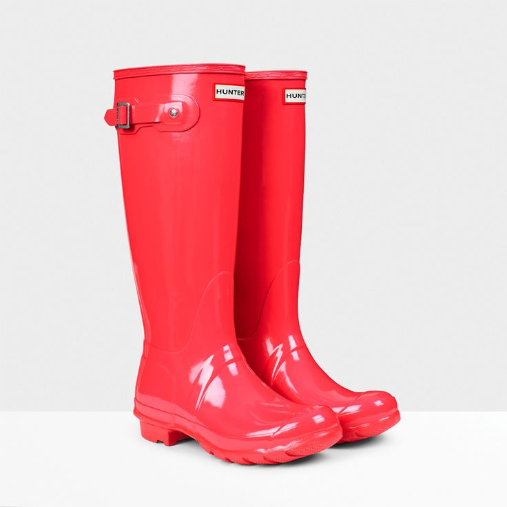 hunter-boots-coral