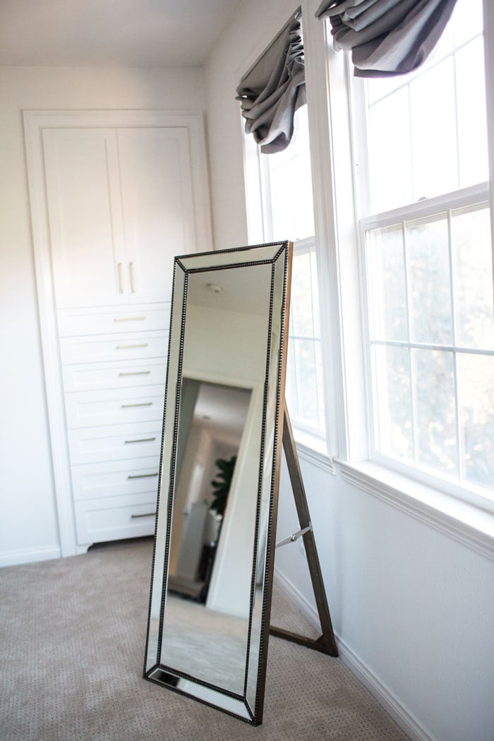 gold full length floor mirror