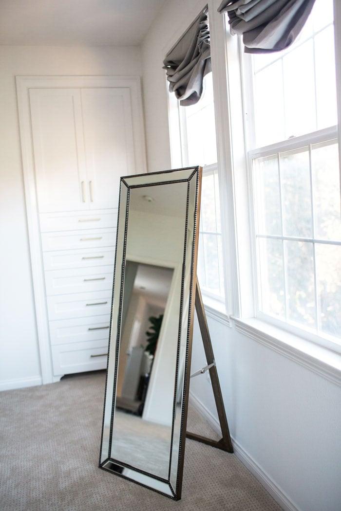 gold full length floor mirror