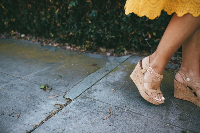 the perfect cork summer wedge sandals! comfortable enough to wear all day
