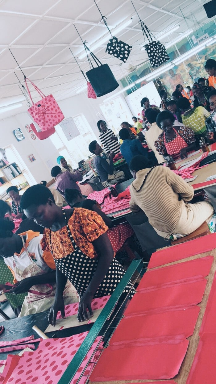 ADC, the factory in Rwanda where all the kate spade on purpose goods are hand-made