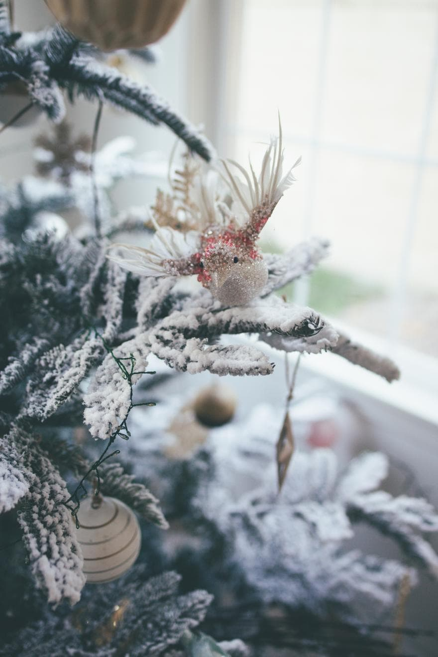 pink bird ornament