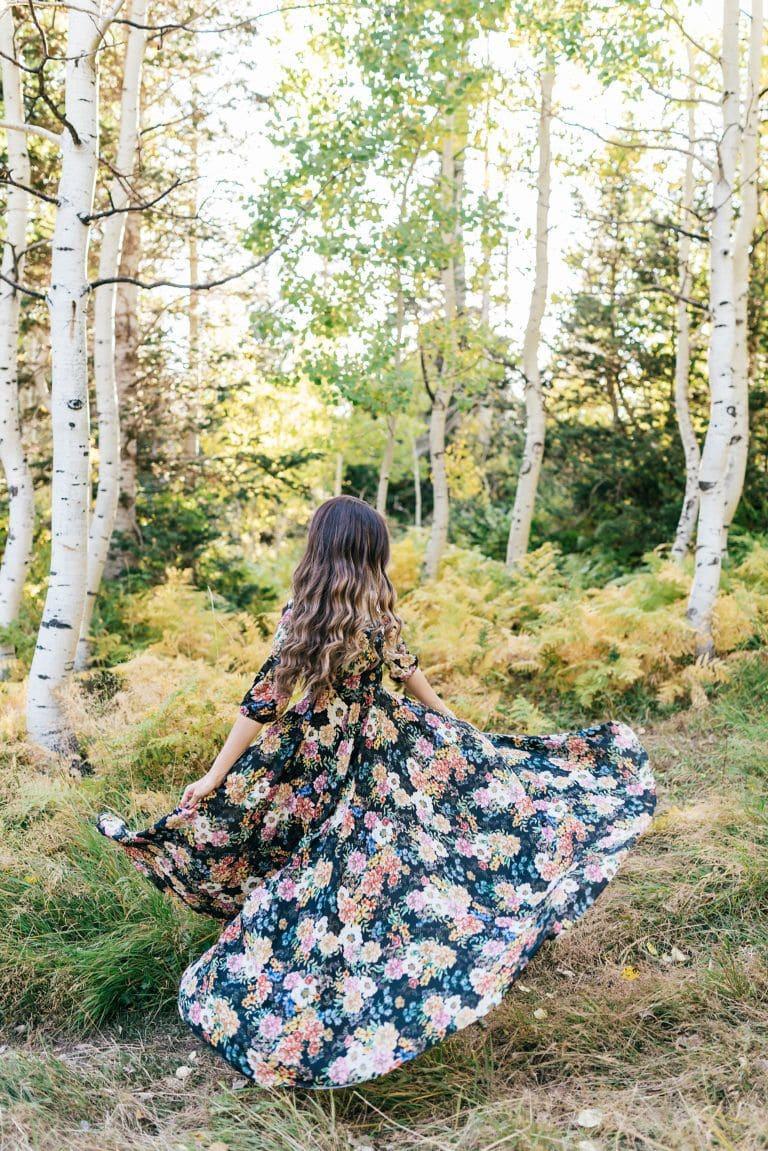 Floral Fall Maxi Dress