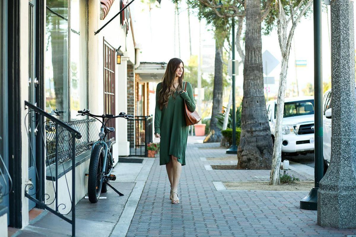 Green Swing Dress OOTD