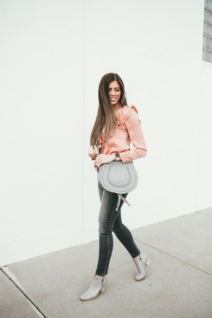 Silver Booties Street Style