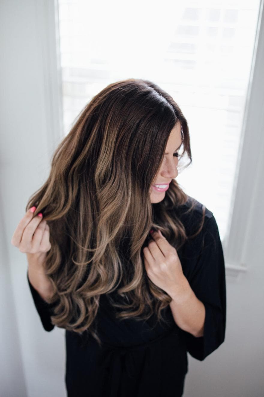 Curled Hair dry shampoo