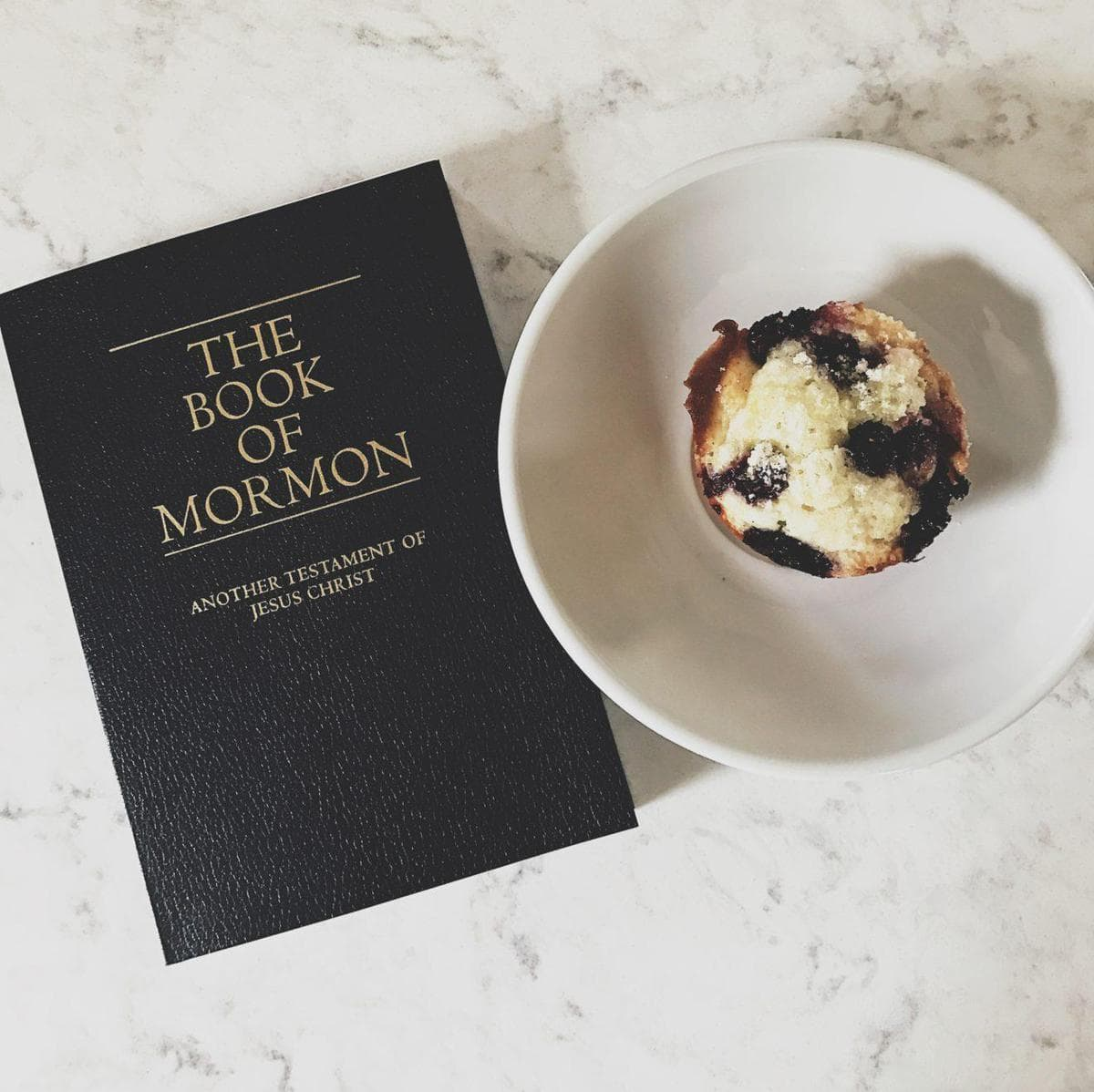 book of mormon and a muffin
