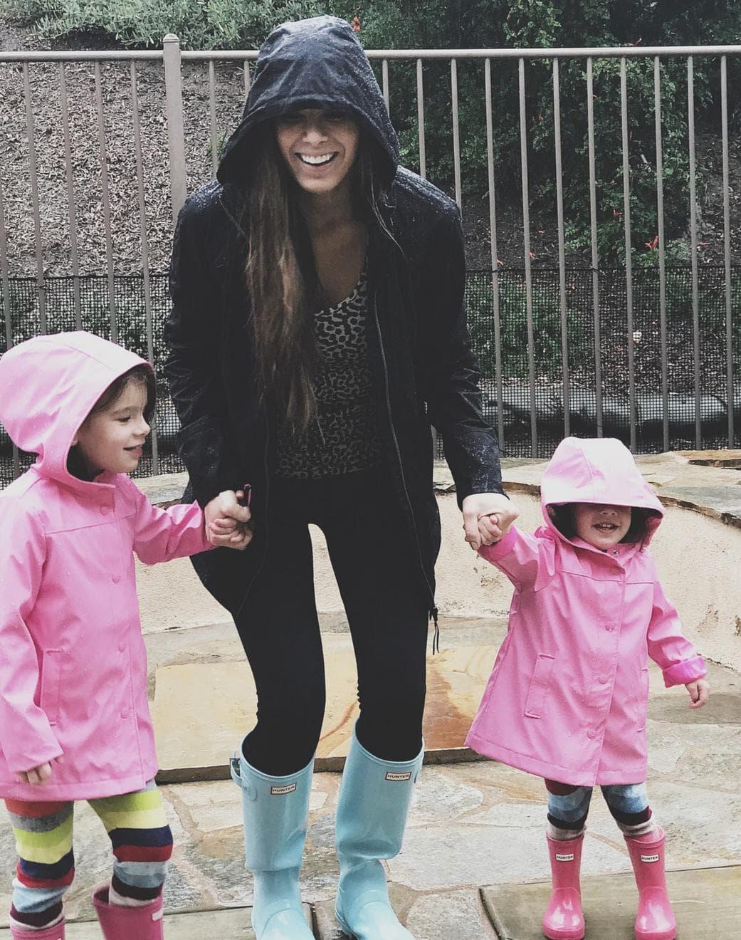 splashing in the rain with my girls