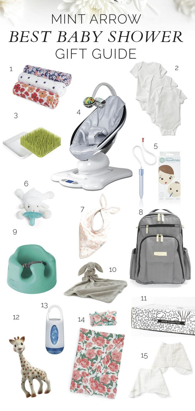Best baby shower gifts to give this spring or summer mint arrow.
