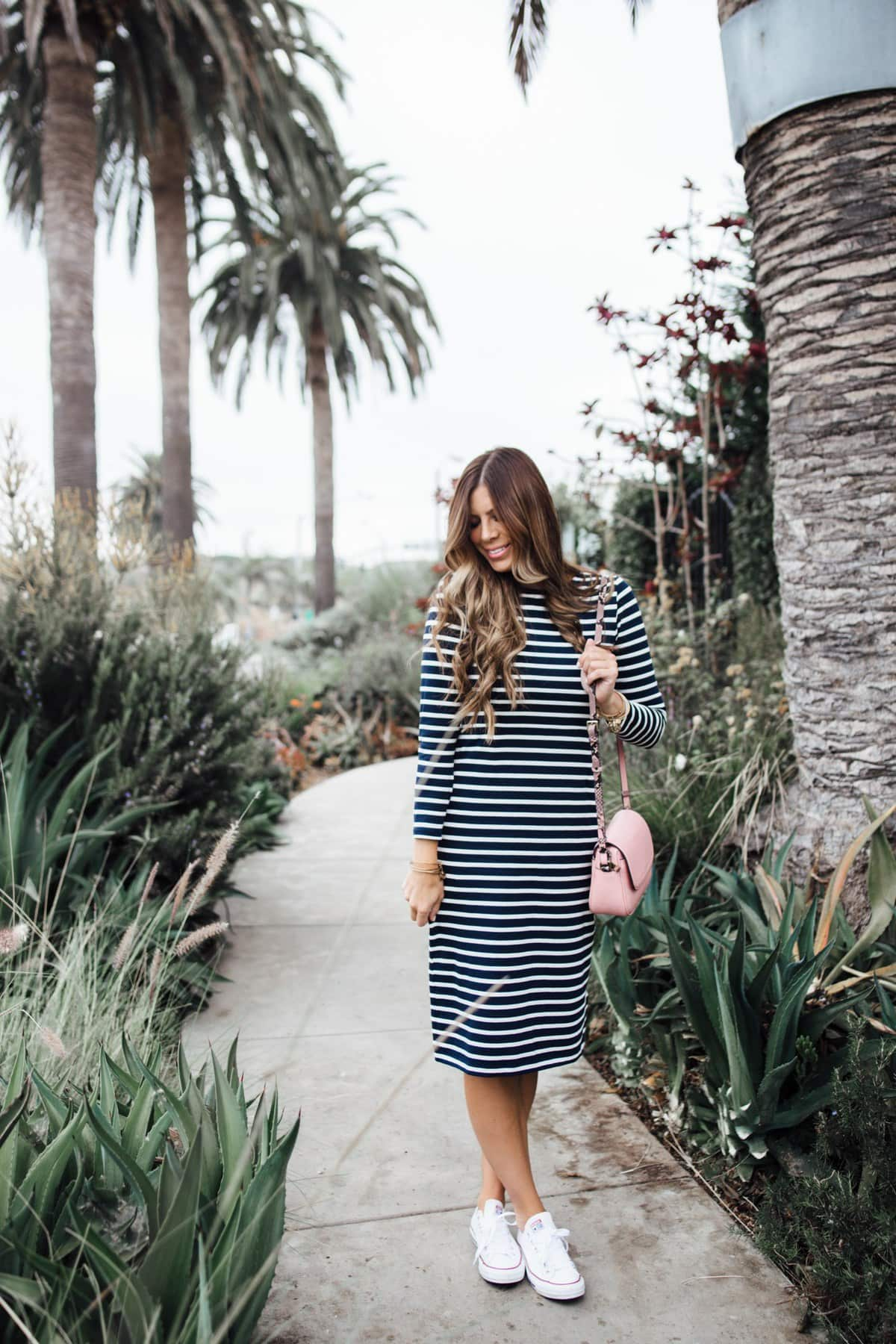j. crew labor day sale striped dress