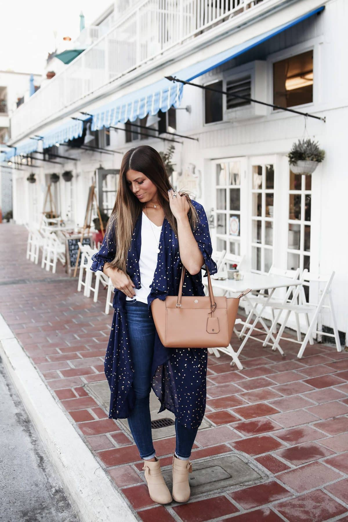 anthropologie blue duster jeans