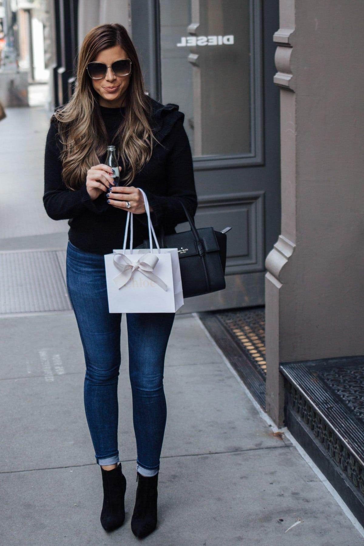 fall black sweater