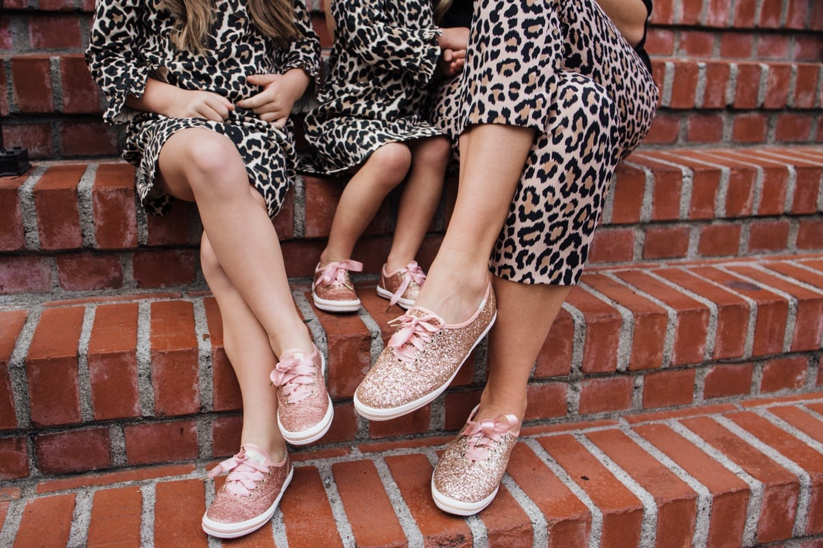 Kate Spade Keds Collaboration sparkly shoes
