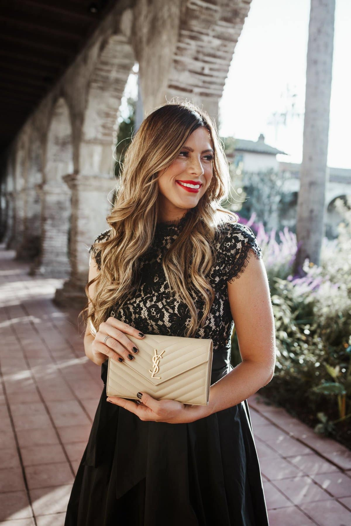Nordstrom holiday nude clutch