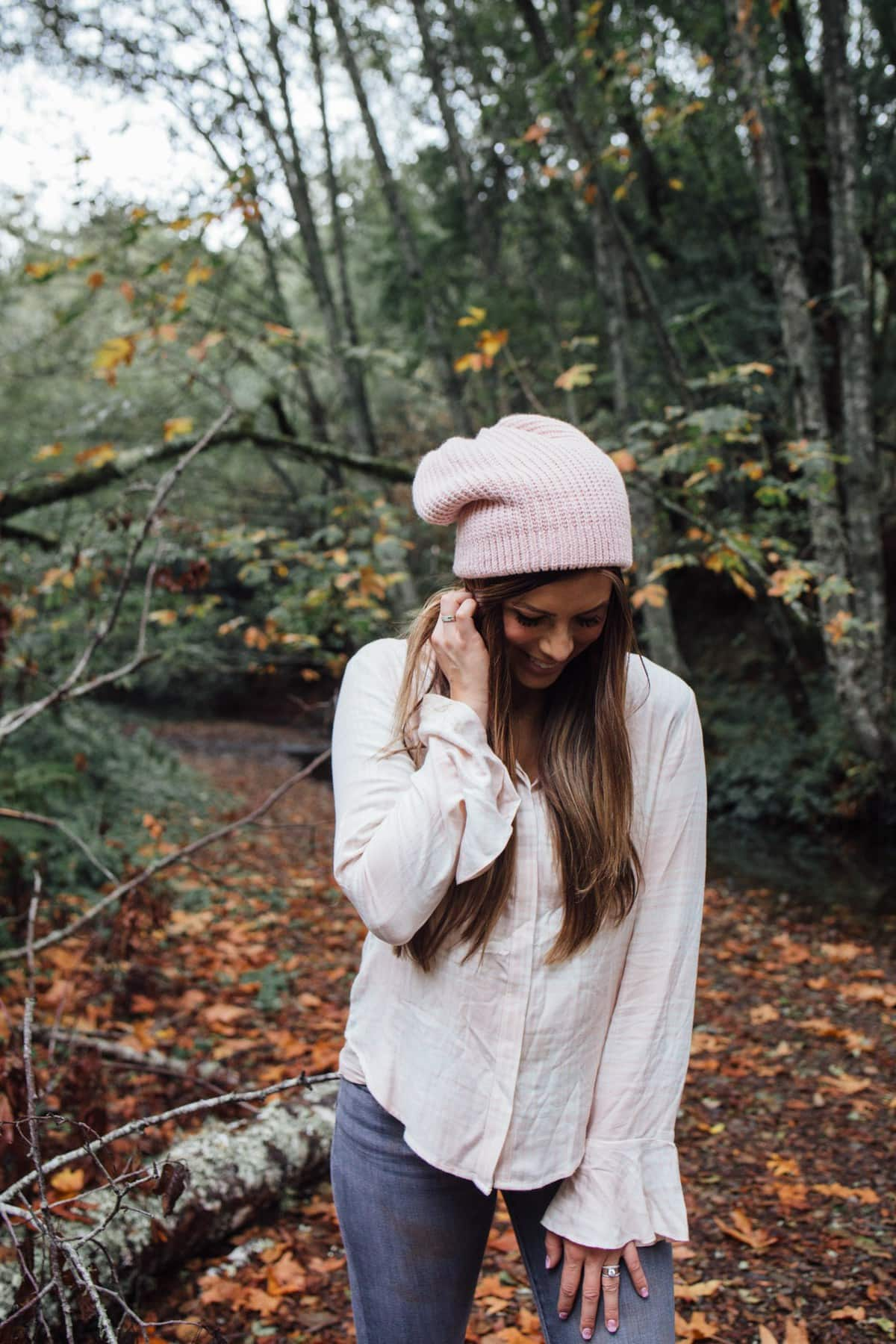 fall outfit slouch beanie