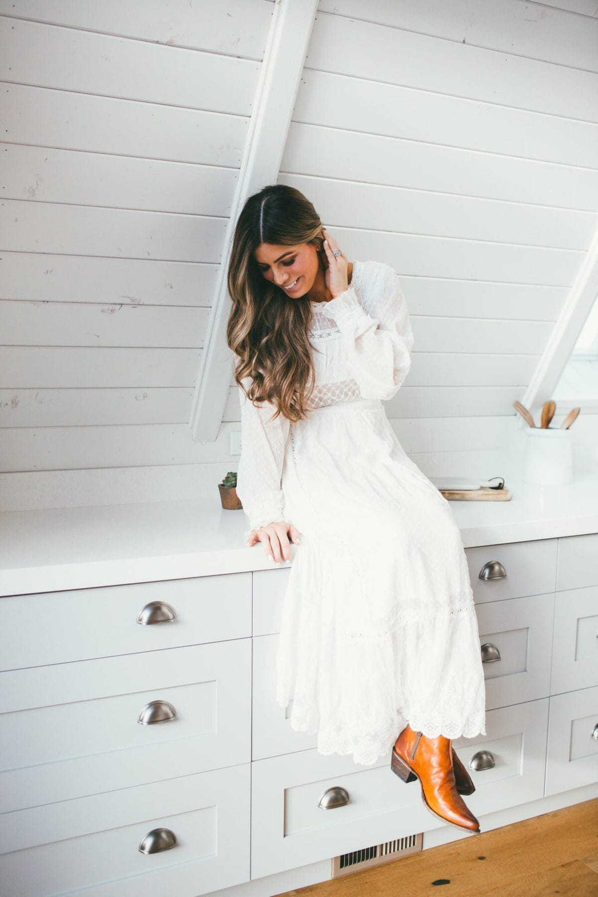 My favorite winter white dress