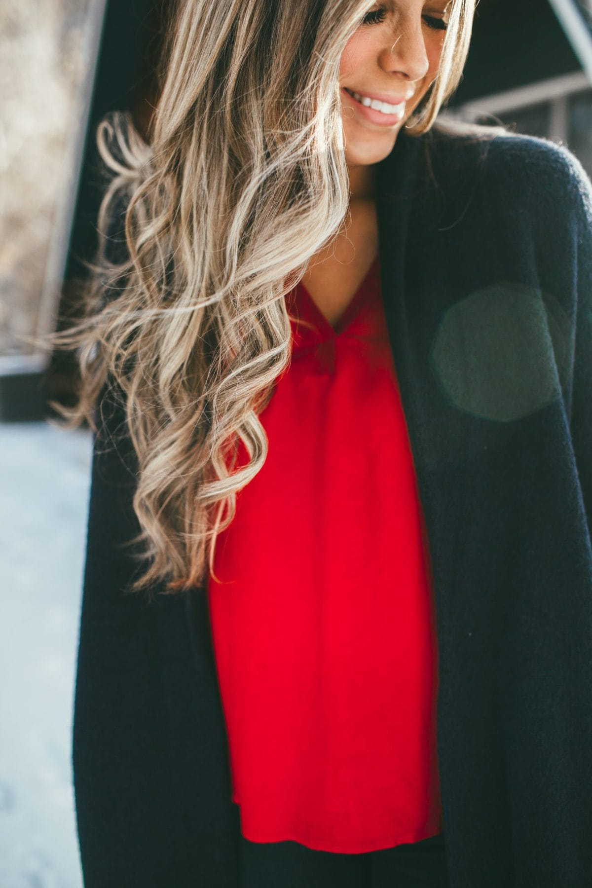 Red Sleeve Top