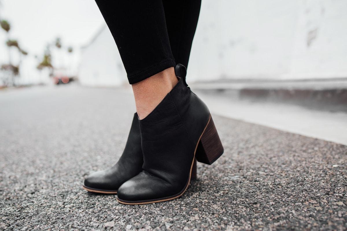 All things black booties