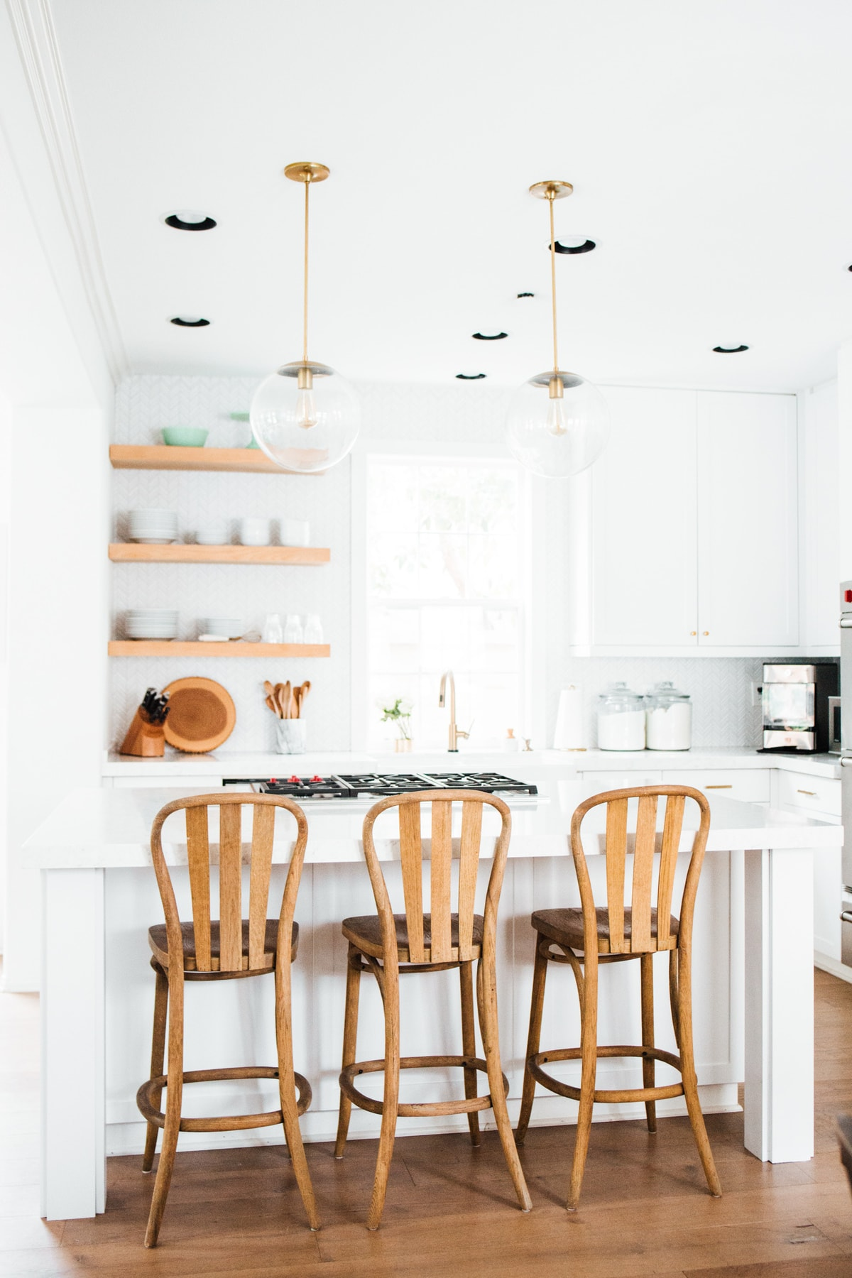 Kitchen Reveal! pendant lights