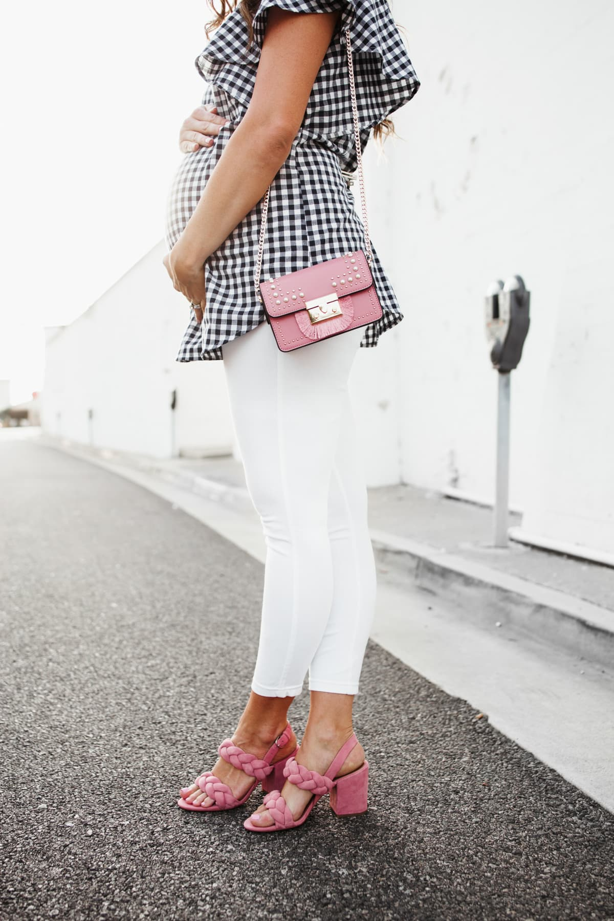 Pops of pink Crossbody Bag