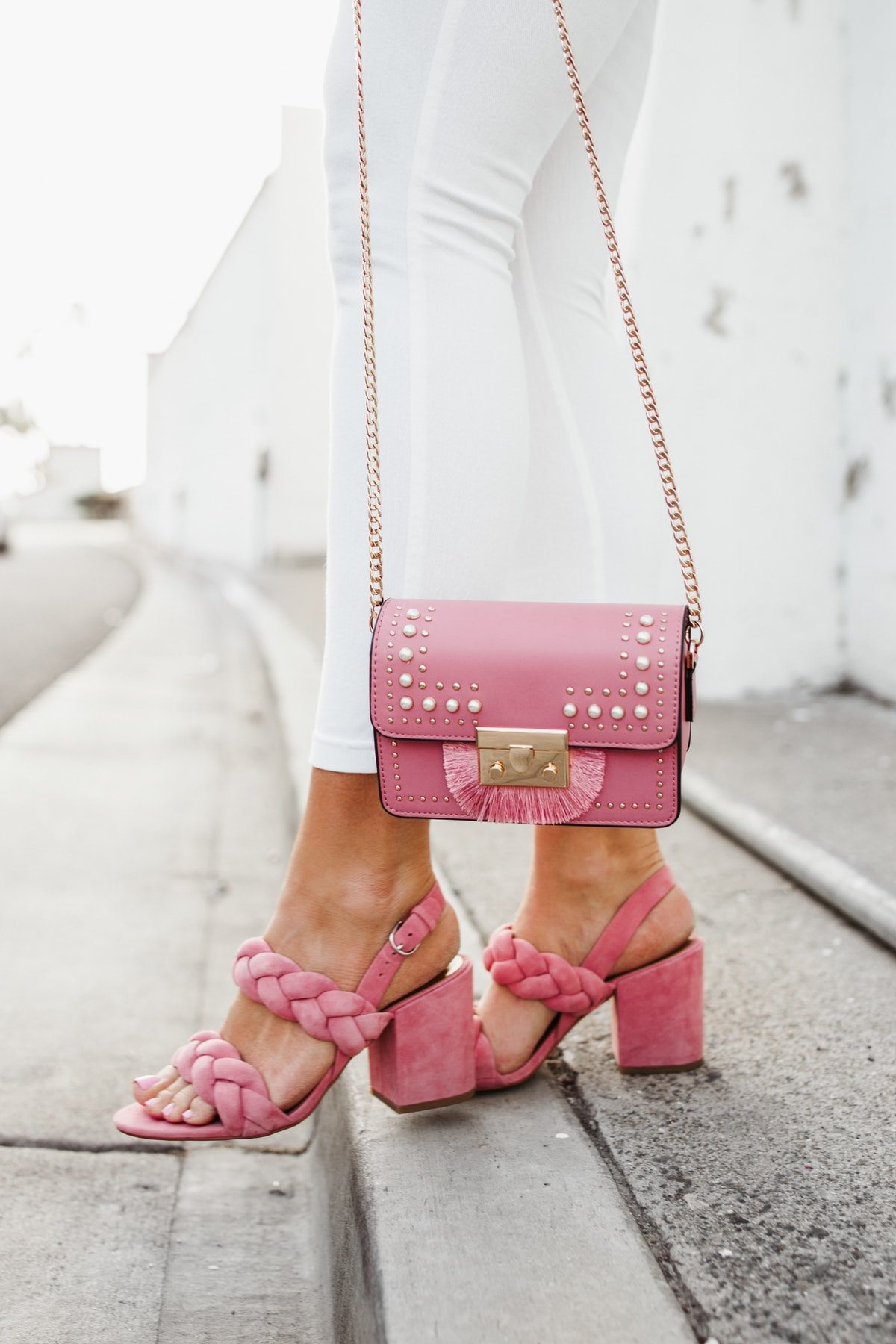 Pops of pink Sandal