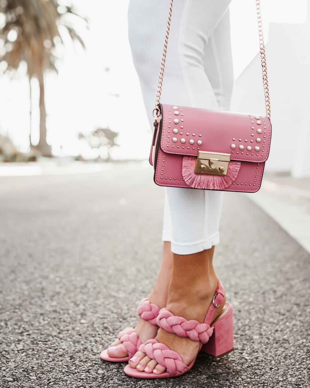 Pops of pink Crossbody Bag