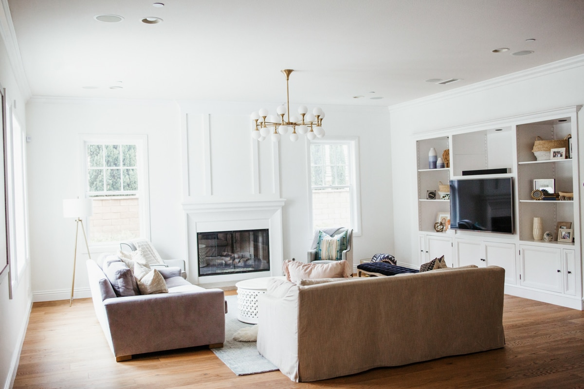 Home tour: small family room updates Blue Printed Rug