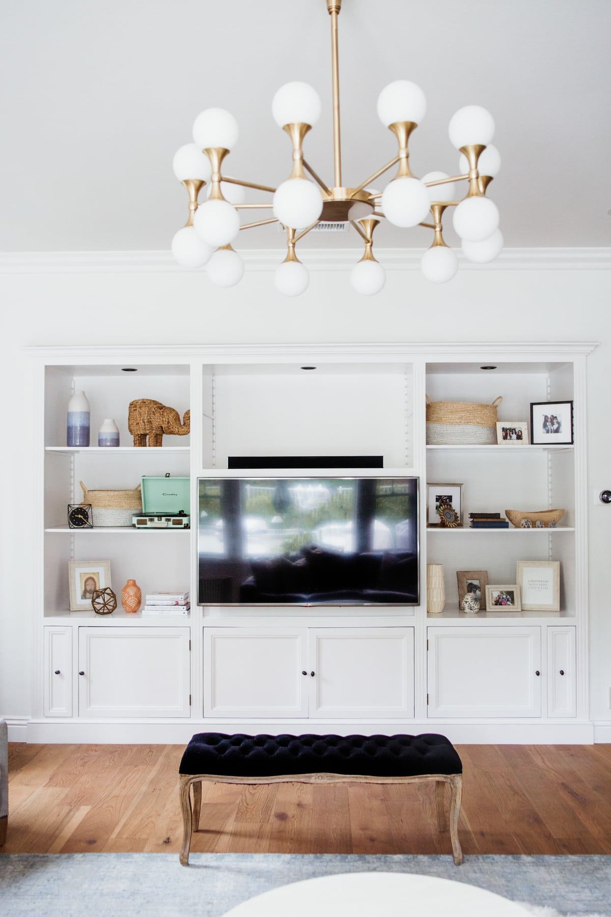 Home tour: small family room updates Astoria Chandelier