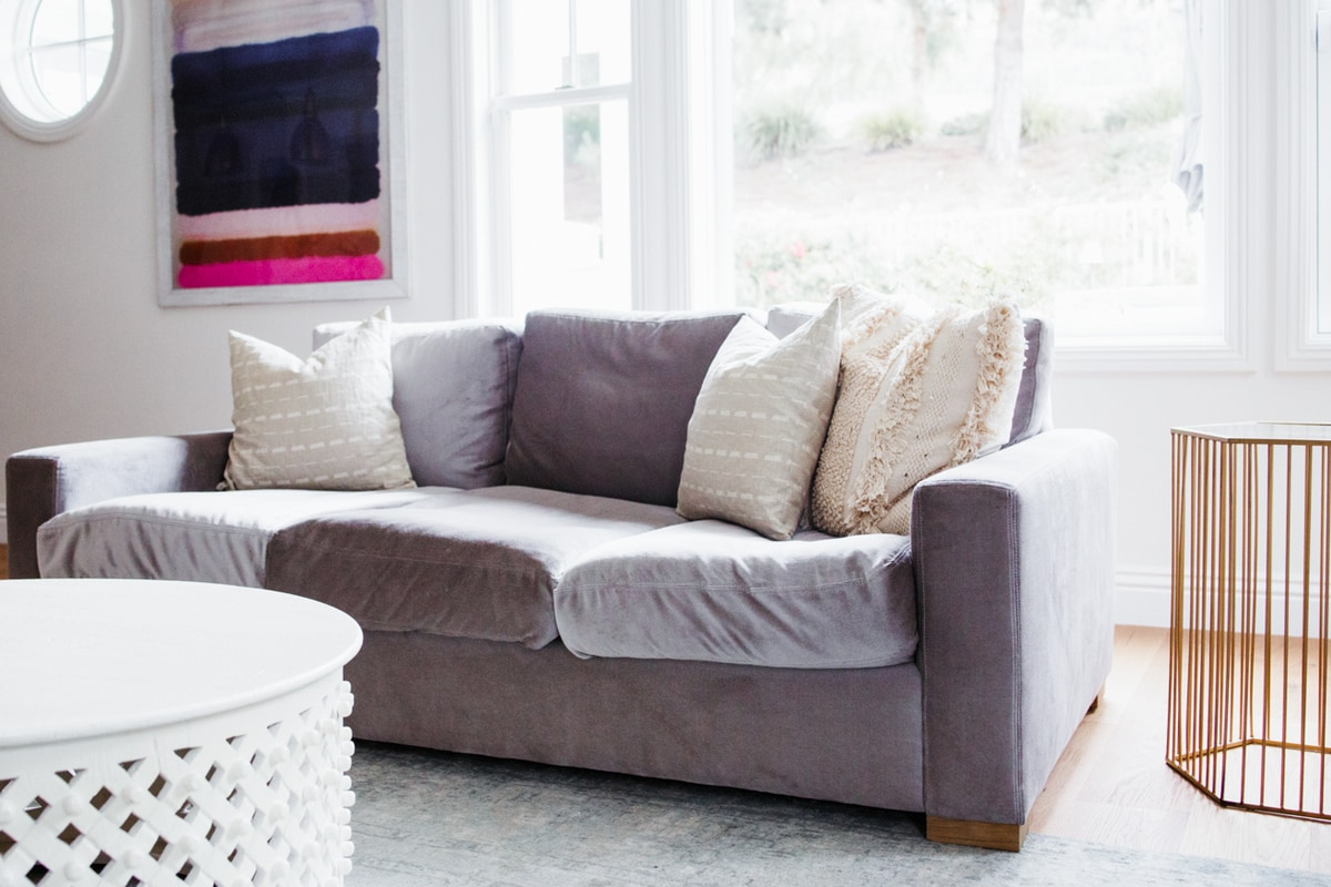 Home tour: small family room updates Maxwell Sofa