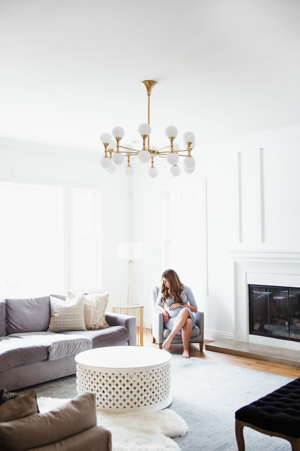 Home tour: small family room update Astoria Chandelier