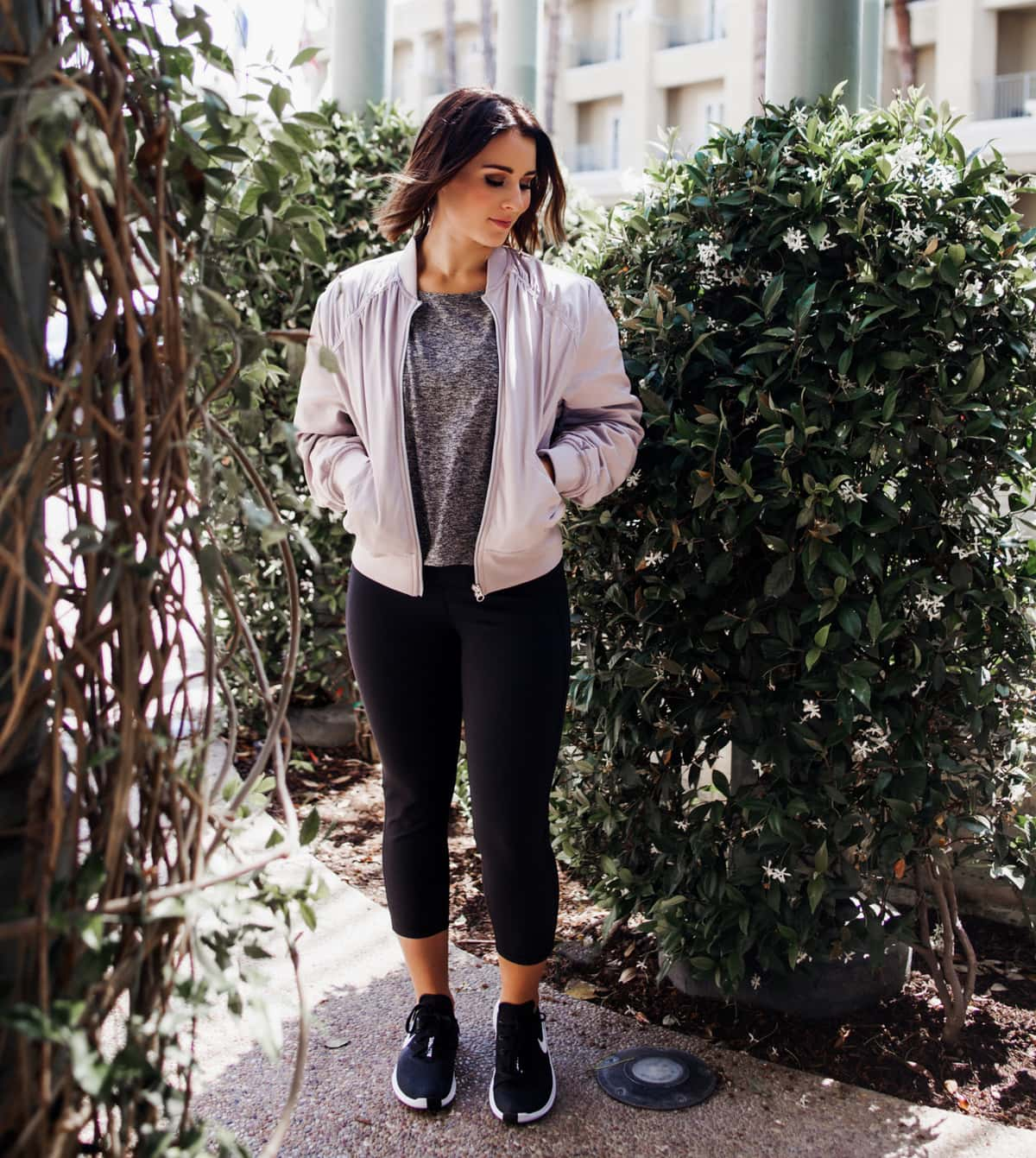 women's activewear bomber jacket