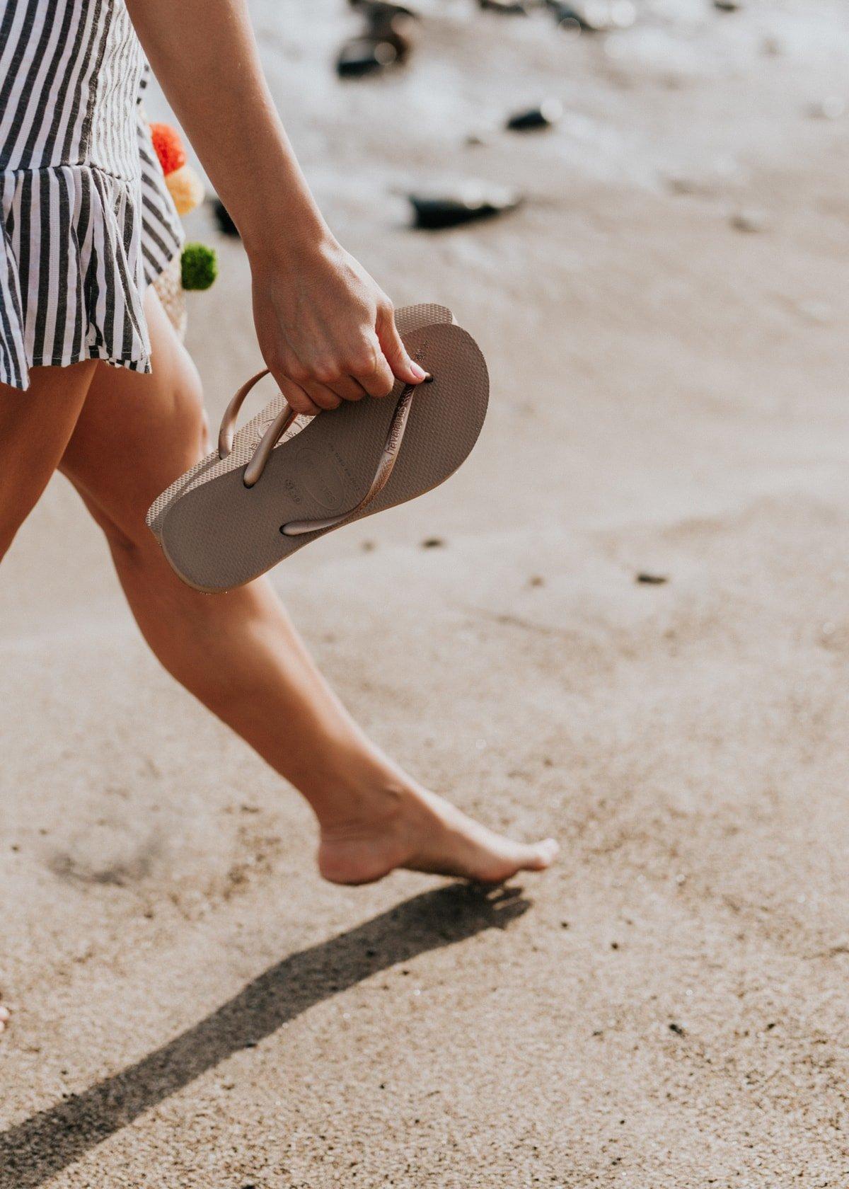 beach flipflop