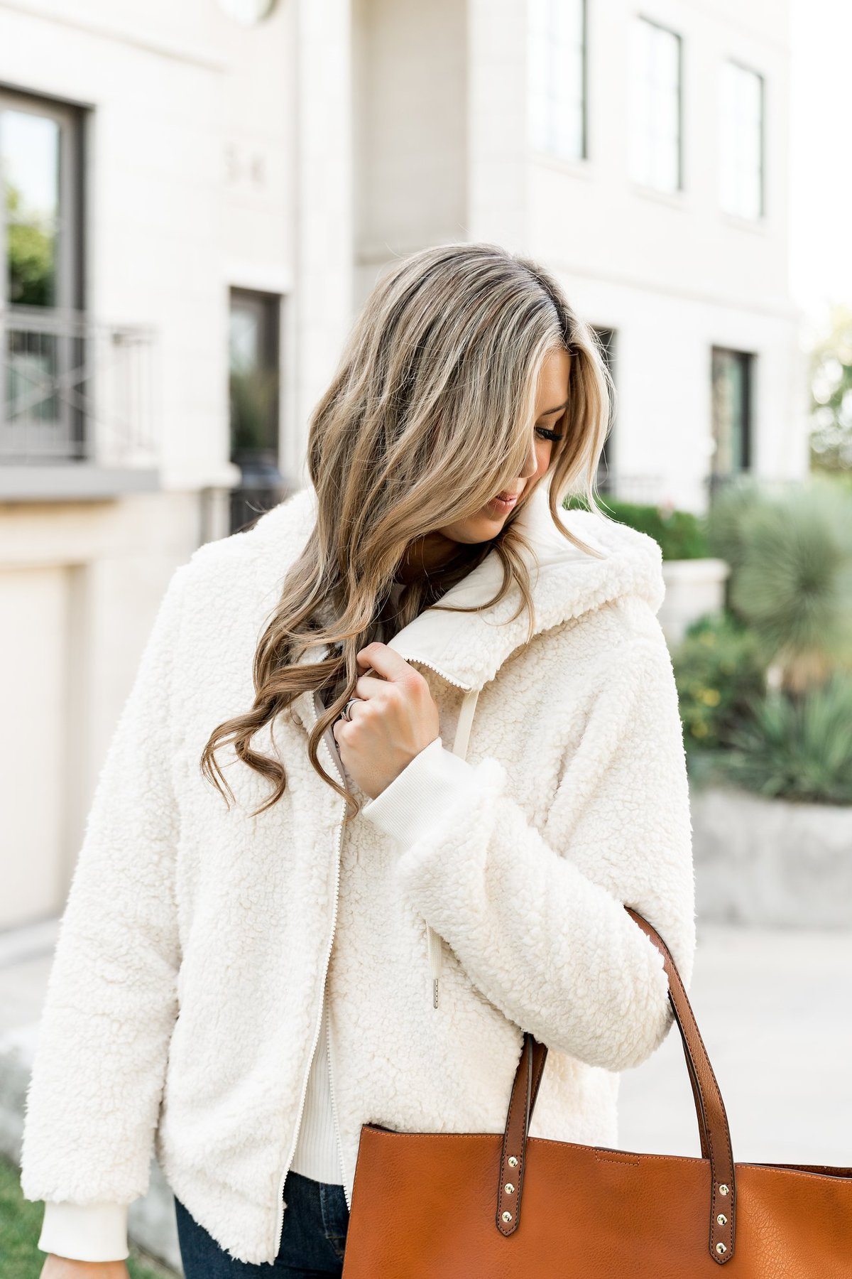 zella fleece jacket fall outfit
