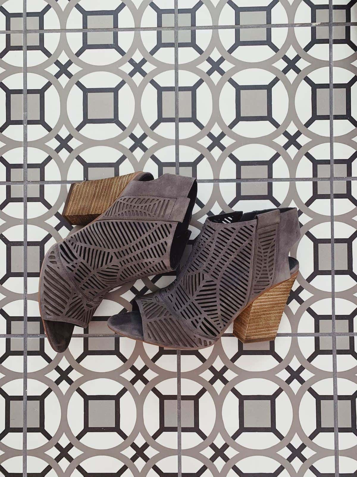 vince camuto laser cut booties 2019