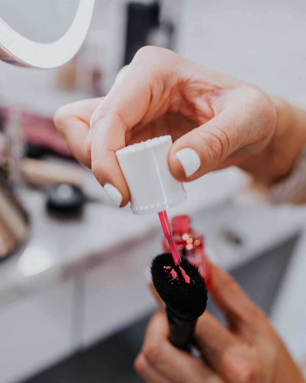 dewy makeup blush