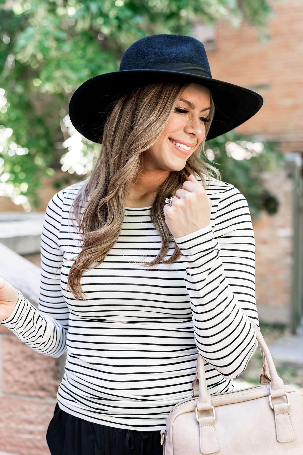 striped top womens