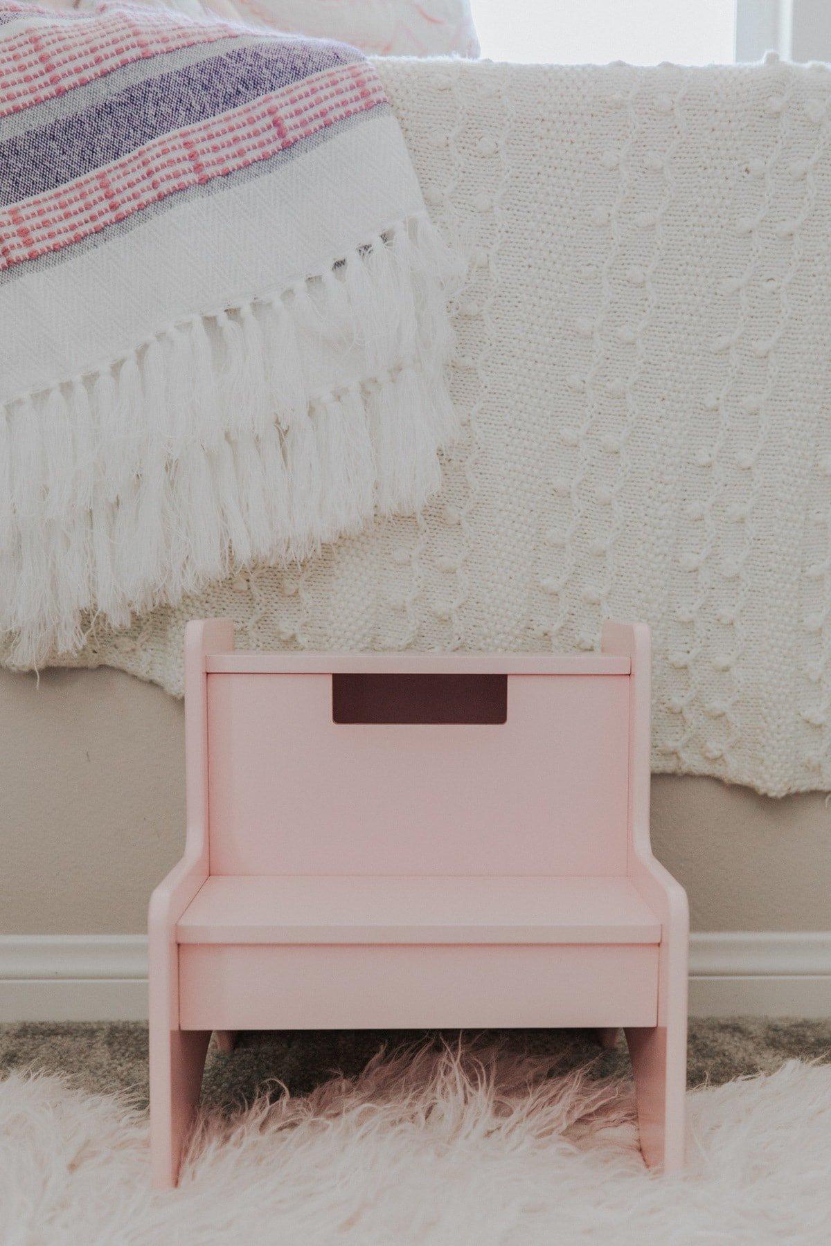 pink stepping stool