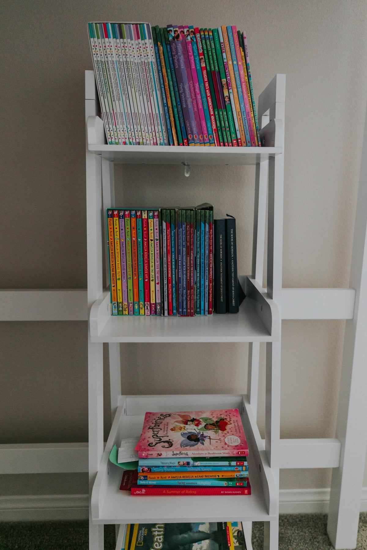 white book ladder