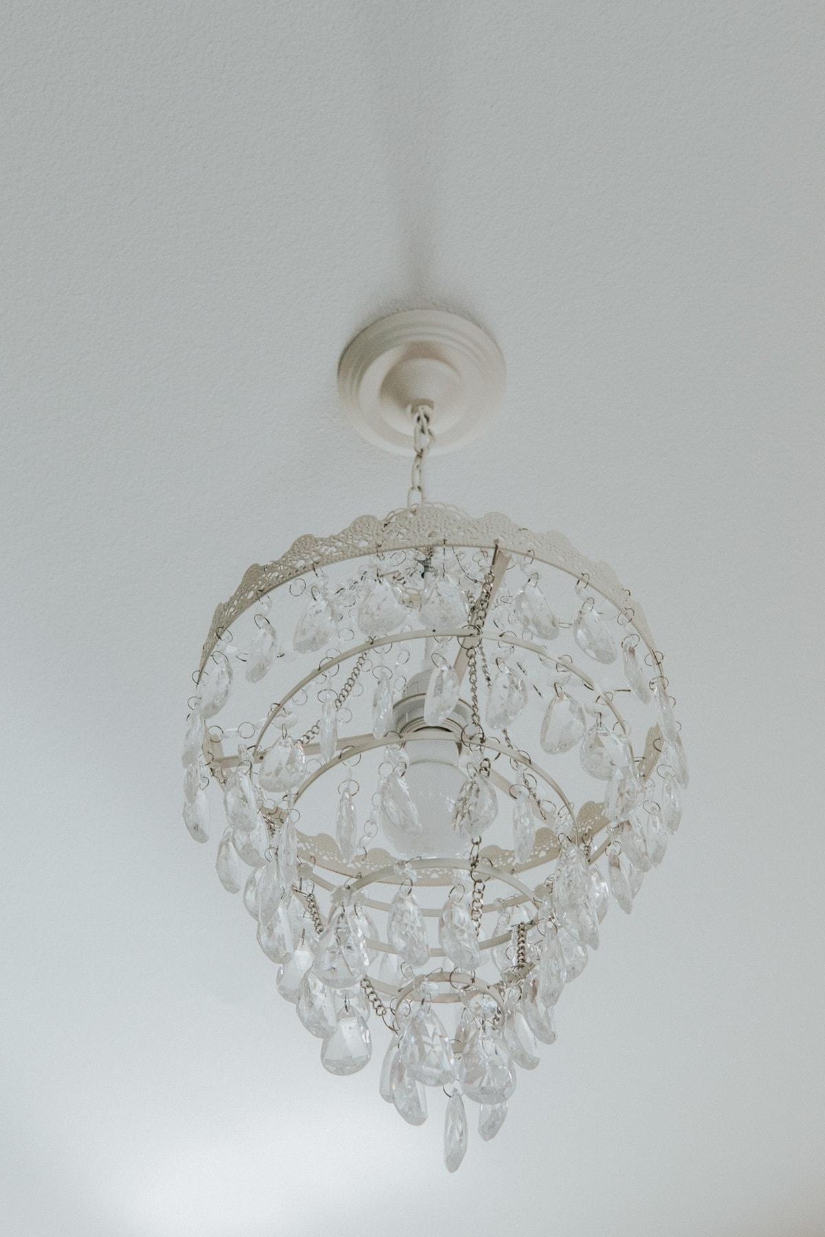 chandelier little girls room