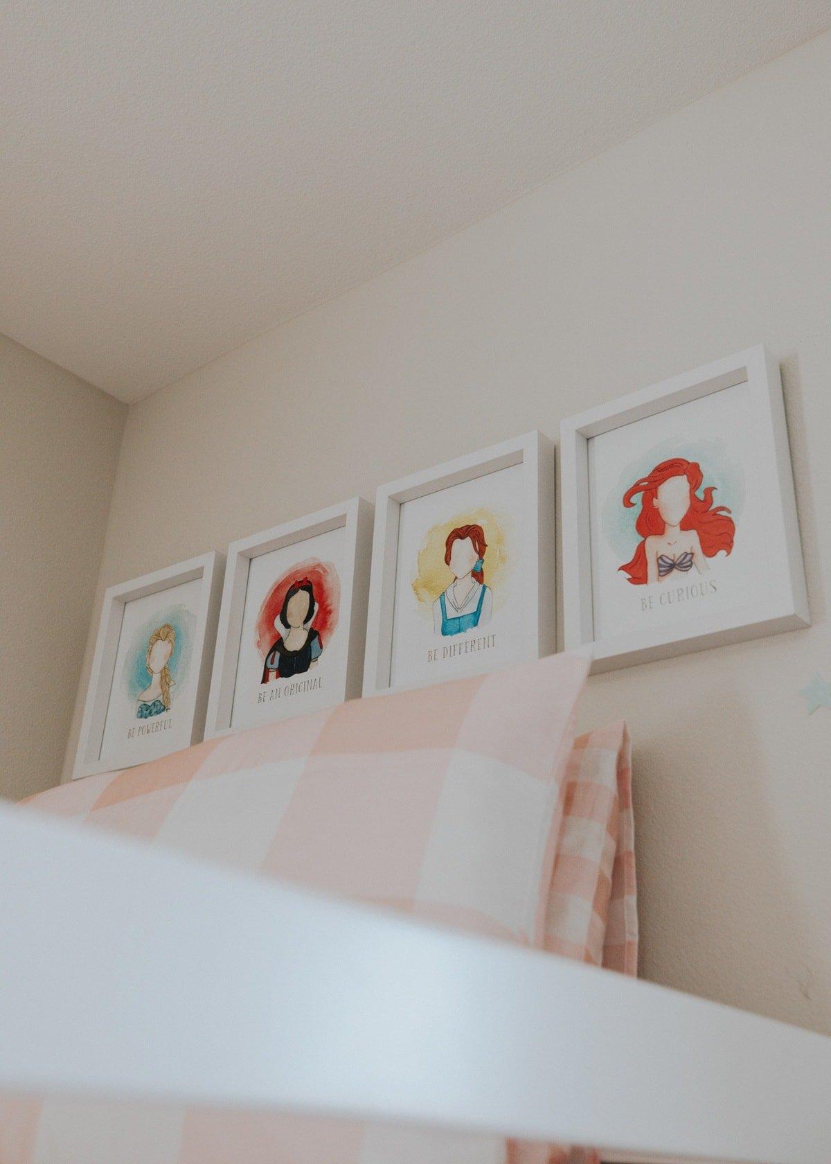 disney princess watercolor prints