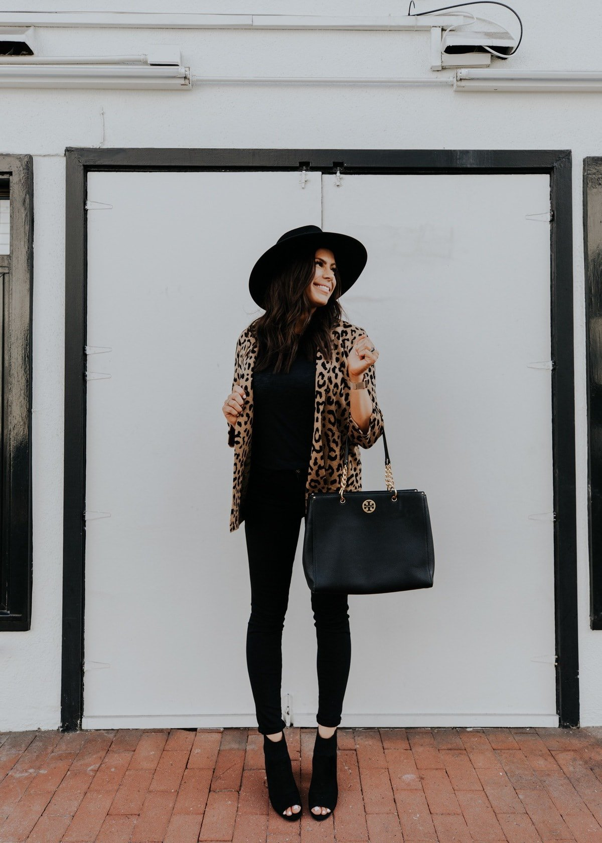 leopard print cardigan outfit