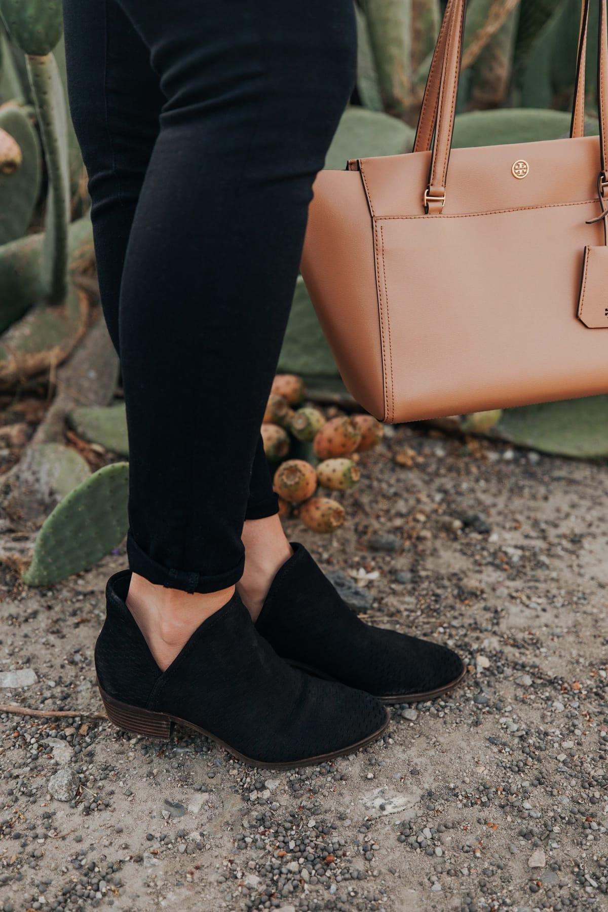 western black booties for winter