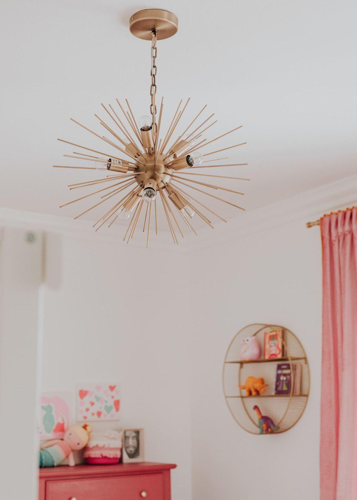 world market sale starburst light in little girls room