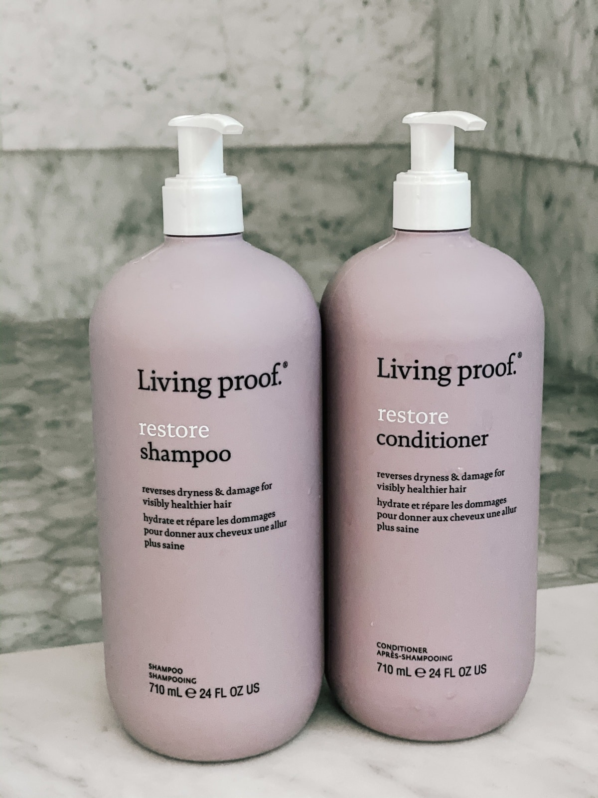 living proof restore shampoo and conditioner qvc