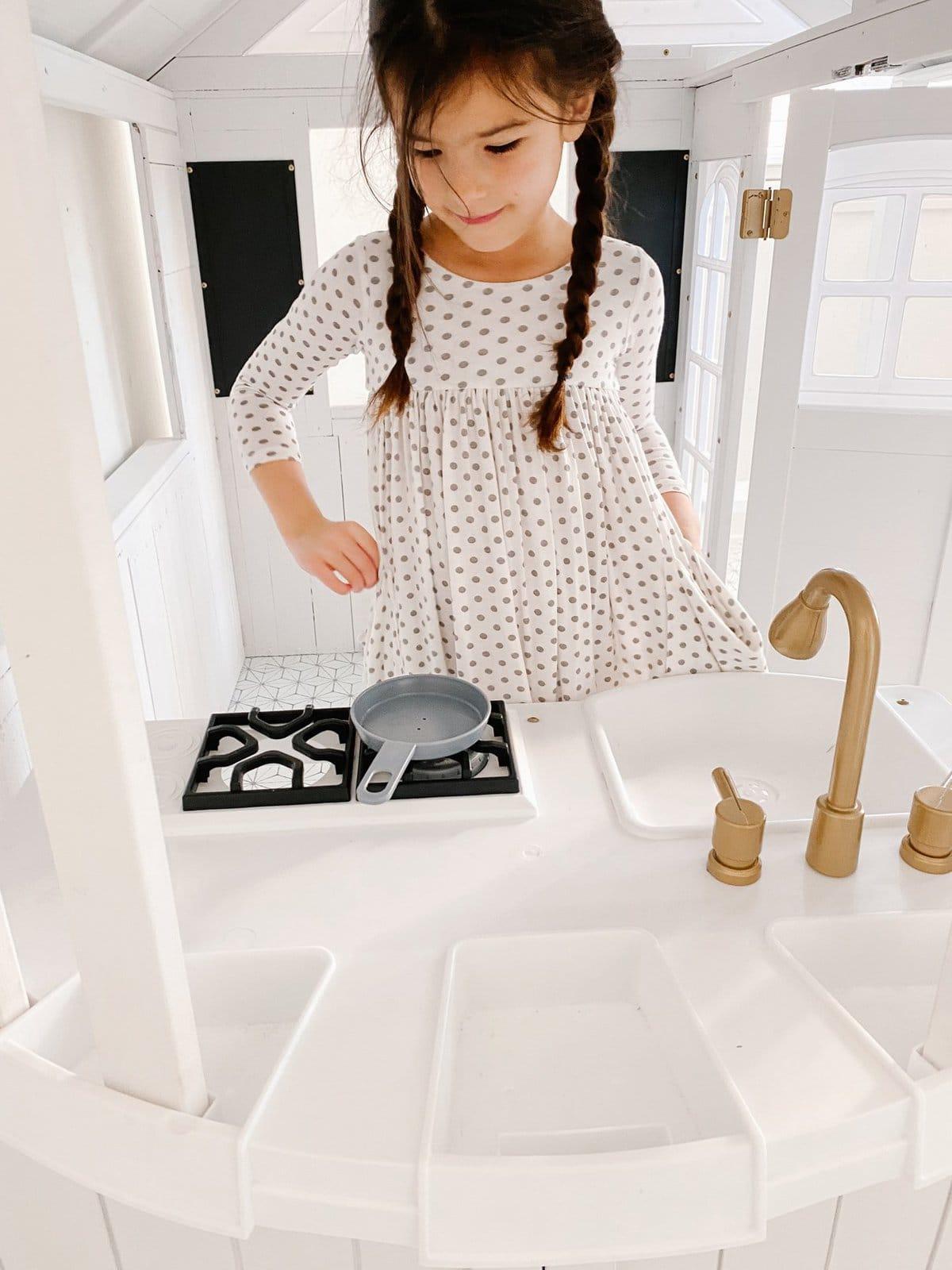 kids modern white playhouse makeover